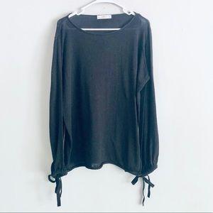 Zara Knit Balloon Sleeve Sweater Size Medium